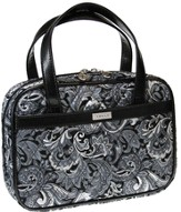 Paisley Purse Style Bible Cover, Gray, Medium