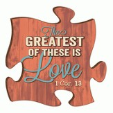 Puzzle Piece, The Greatest Of These Is Love Magnet