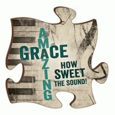 Puzzle Piece, Amazing Grace Magnet