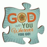 Puzzle Piece, God Will Be With You Wherever You Go Magnet