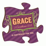Puzzle Piece, Grace Is Sufficient For You Magnet