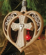 Cross Heart Ornament, Legacy of Love  - Slightly Imperfect