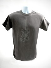 Psalms Guitar Shirt, Gray,  XLarge