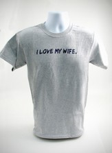 I Love My Wife Shirt, Gray, Large