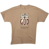 Man Of God Shirt, Brown, XX-Large