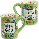 Ceramic Mug, With God All Things are Possible