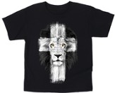 Lion Cross Shirt, Black, Youth Large