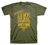 Leave No Man Behind Shirt, Green, Small