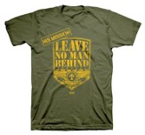 Leave No Man Behind Shirt, Green, Youth Medium