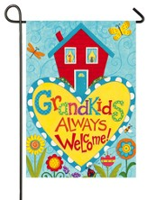 Grandkids Always Welcome Flag, Small