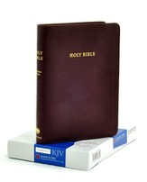 KJV Standard Text Bible, Moroccan leather, Burgundy
