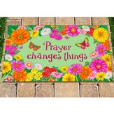 Prayer Changes Things Door Mat