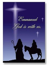 Emmanuel God With Us Christmas Cards, Pack of 20