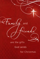 Family & Friends Christmas Card, Pack of 20