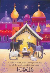 Animals and Manger Christmas Cards, Pack of 20