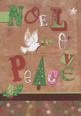 Noel, Love, Peace Christmas Cards, Pack of 20