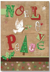 Noel Love Peace Christmas Cards, Pack of 20