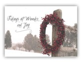 Tidings Of Wonder and Joy Christmas Cards, Pack of 20