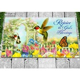 Rejoice In God's Blessings Door Mat