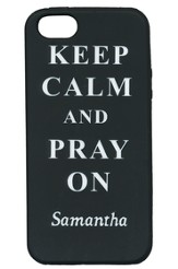 Personalized, iPhone 5 Case, Pray on, Black