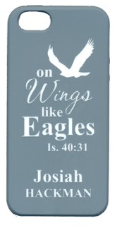 Personalized iPhone 5 Case for Personalization, Eagle, Gray