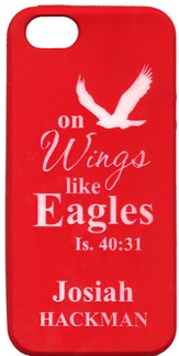 Personalized iPhone 5 Case for Personalization, Eagle, Red