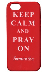 Personalized, iPhone 5 Case, Pray On, Red