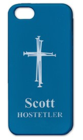 Personalized iPhone 5 Case, Cross, Blue