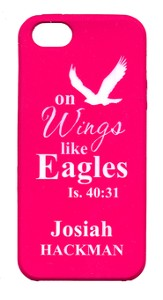 Personalized iPhone 5 Case for Personalization, Eagle, Pink