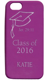 Personalized, iPhone 5 Case, Graduation, Purple