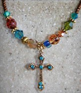 When the Rainbow Is In the Cloud Necklace, Cross
