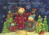 Snowmen In Pines (Romans 15:13, NIV), 20 Count Boxed Christmas Cards