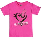 My Heart Sings Shirt, Pink, Youth Small