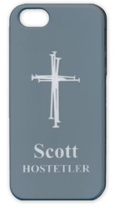 Personalized iPhone 4 Case, Cross, Gray