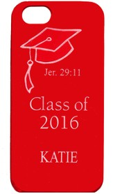 Personalized, iPhone 4 Case, Graduation, Red