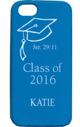 Personalized, iPhone 4 Case, Graduation, Blue