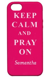 Personalized, iPhone 4 Case, Pray On, Pink