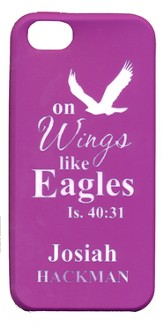 Personalized iPhone 4 Case, Eagle, Purple
