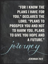 Journey, For I Know the Plans, Chalkboard Wall Art