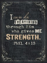 I Can Do Everything Through Him, Chalkboard Wall Art