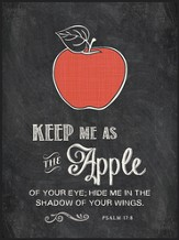 Keep Me As the Apple Of Your Eye, Chalkboard Wall Art