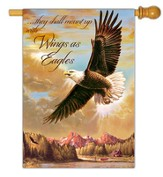 Wings As Eagles Flag, Large