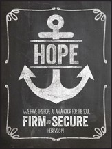 Hope, Anchor For the Soul, Chalkboard Wall Art