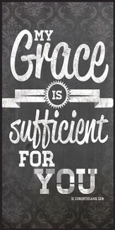 My Grace Is Sufficient For You, Chalkboard Wall Art,
