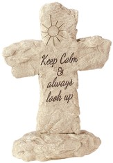 Keep Calm, Cross Garden Stone