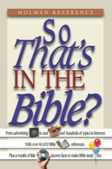 So That's in the Bible? - eBook