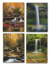 Waterfalls Birthday Cards, Box of 12