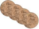 Personalized, Cork Coaster, Bless Our Home, Set of 4
