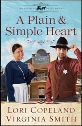 A Plain and Simple Heart, Amish of Apple Grove Series #2 LGPT  - Slightly Imperfect