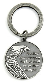 Wings As Eagles Keyring, Isaiah 10:31